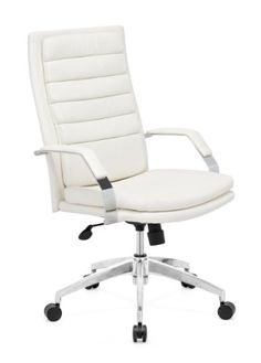 Zuo Modern Director Comfort Office Chair White In White 205327