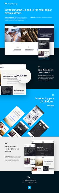 Free Download : UI Design PSD Project Showcase Template