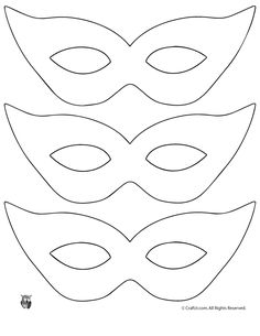 Printable Masquerade Mask Pattern Template - Click for full size image to print