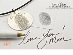 Mother... Brent & Jess Fingerprint Wedding Rings Custom Handmade Fingerprint Jewelry~ AMAZING idea, love the fingerprint jewelry!