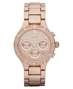 DKNY Watch, Women's Chronograph Rose Gold Tone Stainless Steel Bracelet 38mm NY8508 - Women's Watches - Jewelry & Watches - Macy's $215.00