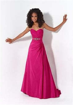 Picture of Hot Pink Sweetheart Taffeta A-Line Jeweled 2011 Prom Dress