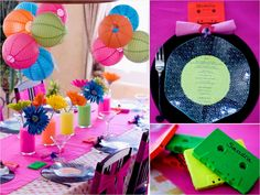 Must-See Eye Candy: 21 Gorgeous Theme Party Decorating Ideas - 80's Party decorations