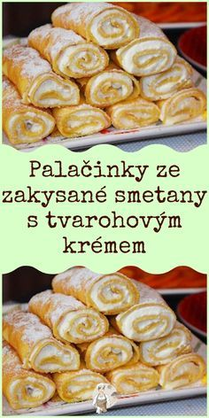 Sweet Desserts, Sweet Recipes, Delicious Desserts, Crepes And Waffles, Czech Recipes, Cooking Recipes, Healthy Recipes, Pavlova, What To Cook