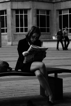 Reading in Rush Hour... by misbahneo, via Flickr