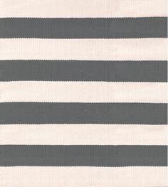 MASINFINITO CASA - Alfombra Dash & Albert Catamaran Stripe Graphite, Ivory - Interiores / Exteriores