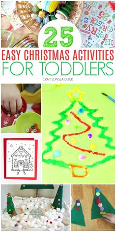 easy christmas activities for toddlers preschool #christmas #christmasactivities #toddler #toddleractivities #preschool