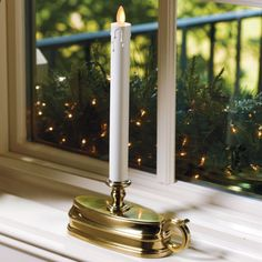 realistic battery-operated window candles