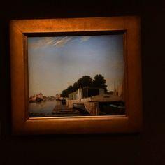 Carl #Dahl - a barge moored beside a waterway