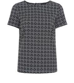 Monochrome Tile Print T-Shirt