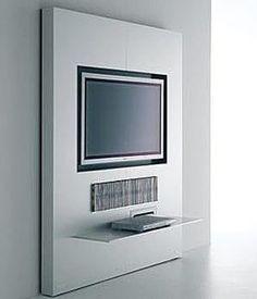Minimalist Design TV cabinet, LCF Plasma wall system _ by MDF Italia_