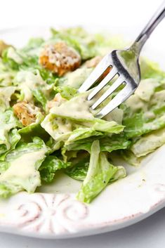 This vegan Caesar dressing is rich, creamy and the most authentic tasting vegan Caesar ever! Serve it over crisp romaine lettuce topped with croutons and even some vegan chicken strips for the most delicious vegan salad that you will ever eat! Potluck Recipes, Raw Food Recipes, Veggie Recipes, Vegetarian Recipes, Healthy Recipes, Potluck Meals, Salad Recipes, Vegan Caesar Dressing, Salad Dressing Recipes