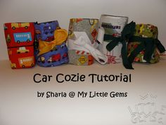 car cozie tutorial-This one of the three I have found is the best tutorail.  This may be the one I make!