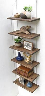 UPcycled Shelving from Cable and Repurposed Wood DIY #GreenLiving #OffTheGrid #Natural #Timber #ReclaimedWood #Handmade #Shelves #Sustainable #UPcycled Trendy Furniture, Colorful Furniture, Rustic Furniture, Painted Furniture, Diy Furniture, Bedroom Furniture, White Furniture, Industrial Furniture, Furniture Plans