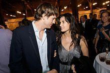 Ashton Kutcher with wife Demi Moore