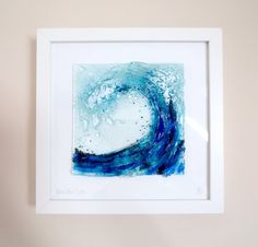 Mini Wave Fused Glass Wall Art by RoygbivGlass on Etsy