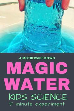 This water suspension science experiment for kids is simple, quick, and a lot of fun for younger kids. It takes no time to prep and no cleanup is needed. #STEM #scienceexperimentskids… More
