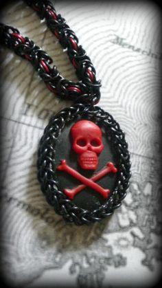 Pirate Captain Byzantine Necklace | DragonRoseCreations - Jewelry on ArtFire