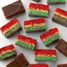 Passover rainbow cookies from Taste of Home Magazine by Shannon Sarna