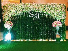 Wifa Catering N Wedding Consultants. Naming Ceremony Decoration, Reception Stage Decor, Wedding Stage Design, Wedding Hall Decorations, Wedding Reception Backdrop, Marriage Decoration, Wedding Entrance, Engagement Decorations, Wedding Wall