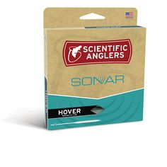 Scientific Anglers SONAR HOVER; a super slow sinking fly line for moderate and cold waters, fresh or salt: Free Shipping, NO Sales tax!  SA SONAR HOVER fly line Sales, Video and Guide Reviews. This SA fly line offers very slow sinking fly line with a powerful head that will load rods easily.  Summary of prominent SONAR HOVER line features:  -Temperate and cold water fishing applications.   -Short powerful super slow sink head facilitates rod loading and turnover of large flies.   -Sink rate…