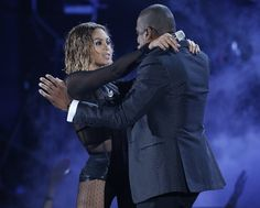 """""""Drunk In Love"""" with Jay-Z live at The Grammys 2014 #BeyonceAtGrammys #JayonceAtGrammys"""