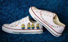 Minions canvas shoes Despicable me hand painted shoes