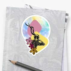 'Kudu Silhouette' Sticker by Amanda D-Hay Silhouette S, Sticker Design, Artwork Prints, Amanda, Stationery, Stickers, Printed, Stationery Shop, Paper Mill