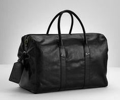 big black leather bag