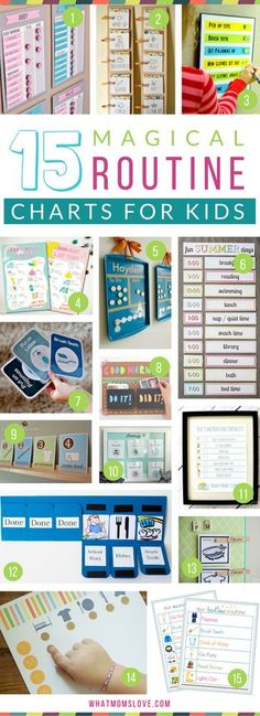 Morning and Bedtime Daily Routine Charts for Kids - perfect for keeping them on a schedule over the summer or for back to school. DIY and printable routine charts to help teach kids independence! Plus more tips, tricks and hacks to survive Summer with you Kids And Parenting, Parenting Hacks, Parenting Articles, Daily Routine Chart For Kids, Toddler Routine Chart, Daily Routines, Bedtime Routine Chart, Morning Routine Chart, Morning Routine Kids