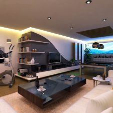 Sous sol on pinterest modern basement piscine hors sol and modern home plans - Amenagement sous sol ...