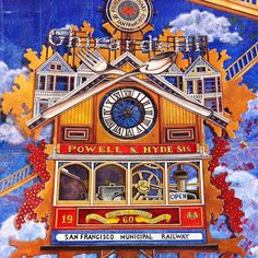 """""""People ask what kind of color they should use. I love using #ultramarine with mixed shades of #brown and a touch of #red ❤️ """"#cuckooclock #Coloringbook…"""""""