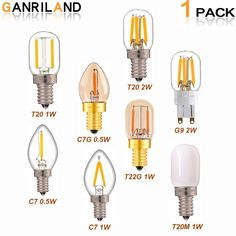 GANRILAND LED Bulbs G9 E12 E14 0.5W 1W 2W LED Lamp LED Filament Night light 110V 220V Chandelier LED Edison Bulb Dimmable C7 T20  Price: $ 8.99 & FREE Shipping   #computers #shopping #electronics #home #garden #LED #mobiles Edison Led, Edison Bulbs, 1w Led, Chips Brands, Night Lamps, Chandelier Pendant Lights, 5 W, Led Lamp, Night Light