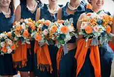 orange, blue, peach, and grey -  hana floral design