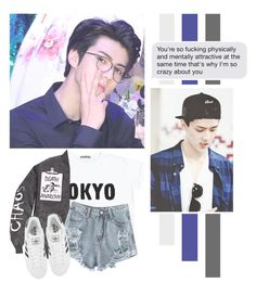 """""""Oh Sehun"""" by lazy-alien ❤ liked on Polyvore featuring adidas, bedroom, EXO, exok, Sehun and ohsehun"""
