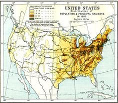 United States Population Density 1900