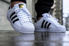 Adidas superstars are really unique. I like how they can easily be identified by the three stripes. I really like the choices of colors that they use. They are comfortable and stand out in the crowd.