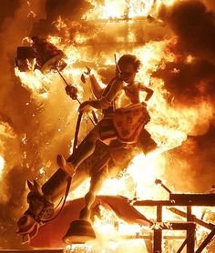 Las Fallas, Valencia: March Fire, fireworks, smoke, and excitement make this festival a cross between Disney World and the apocalypse. The Places Youll Go, Places To Go, Festival Information, Valencia City, Festivals Around The World, Holiday Places, Cool Photos, Spain, Around The Worlds
