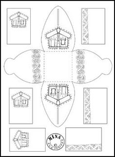 Maori Printables: Maori Gift Box to Colour
