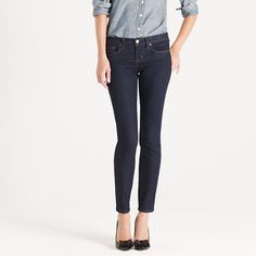 These pants rock! Want them in every color. Ankle stretch toothpick jean in classic rinse