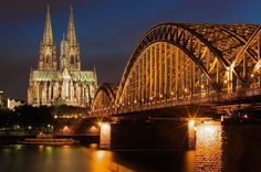 """Cologne, Germany - I see the """"Kölner Dom"""" 5 days a week. Oh The Places You'll Go, Places To Travel, Places To Visit, Europe Places, Dream Vacations, Vacation Spots, Vacation Ideas, Wonderful Places, Beautiful Places"""