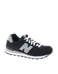 New Balance | New Balance 574 Black Sneakers at ASOS