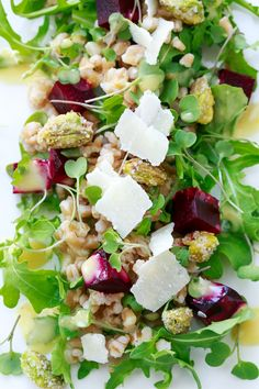 Roasted Beet and Farro Salad with Citrus Vinaigrette | Love & Olive Oil