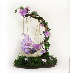 How to Make Fairy Garden Furniture From Twigs Fairy Garden Plants, Fairy Garden Furniture, Mini Fairy Garden, Fairy Garden Houses, Fairy Crafts, Garden Crafts, Mery Crismas, Clay Fairy House, Fairy Village