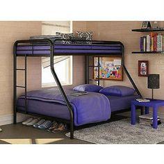 Twin over Full Bunk Beds  Metal Bunkbeds Kids T... - Exclusively on #priceabate #priceabateKidsFurniture! BUY IT NOW ONLY $208.65