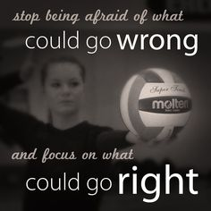 Not as much for volleyball, but a good reminder before you go onstage to all dancers ❤️