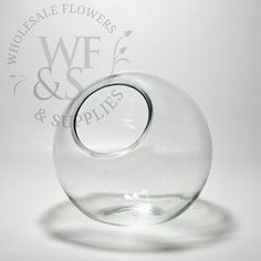 Tilted Glass Bubble Bowl Vase Medium - WholesaleFlowersAndSupplies.com