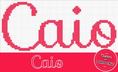 Nomes em Ponto Cruz: Caio