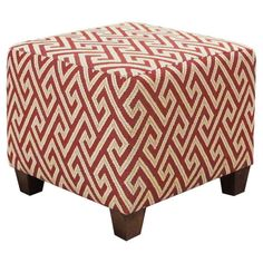 Handmade in the USA, this foam-cushioned ottoman pairs a pine wood frame with chic links-print upholstery. Product: Ottoman...