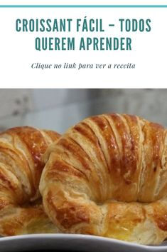 Easy Croissant - Everyone Wants To Learn - recipes food - Easy Casserole Recipes, Crockpot Recipes, Croissant Recipe, Salty Foods, Diy Food, Homemade Food, Appetizer Recipes, Cake Recipes, Food And Drink